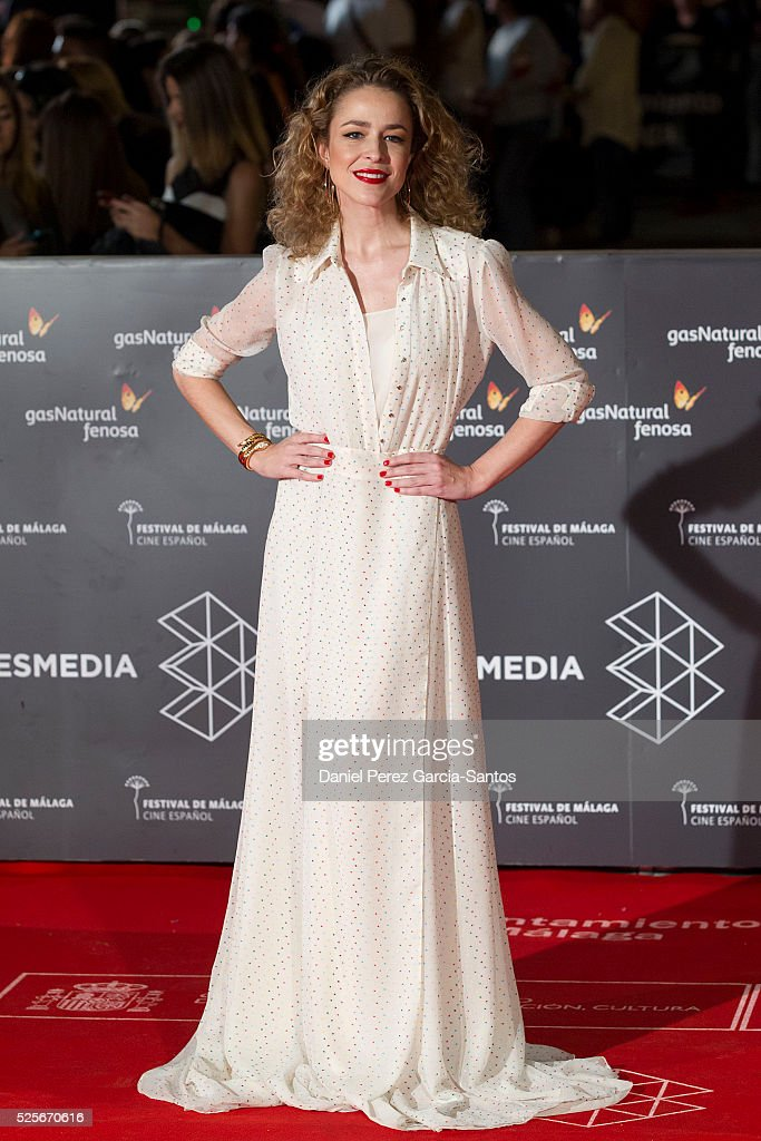 Actress Silvia Abascal attends 'La Ultima Piel' premiere at the Cervantes Teather during the 19th Malaga Film Festival on April 28, 2016 in Malaga, Spain.