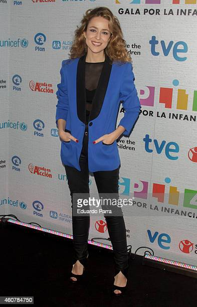 Actress Silvia Abascal attends the Gala for Children photocall at Magarinos sports center on December 22 2014 in Madrid Spain