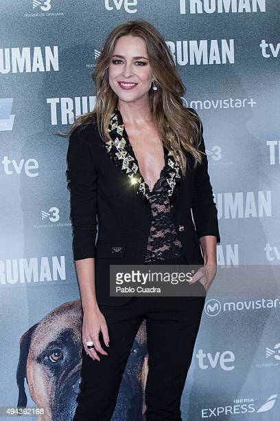 Actress Silvia Abascal attends the 'Truman' premiere at Palafox Cinema on October 26 2015 in Madrid Spain