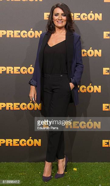 Actress Silvia Abril attends 'El pregon' premiere at Capitol cinema on March 16 2016 in Madrid Spain