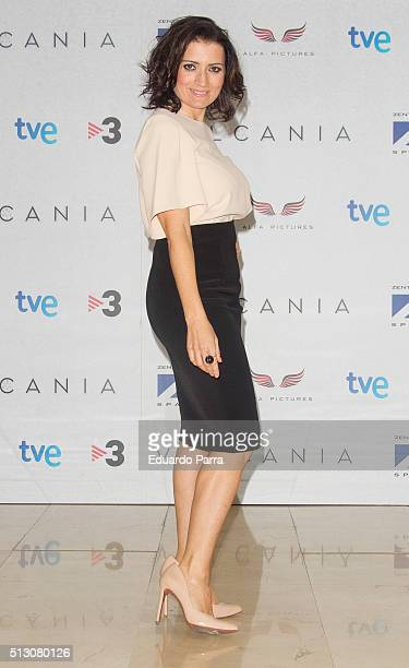 Actress Silvia Abril attends 'Vulcania' photocall at Princesa cinema on February 29 2016 in Madrid Spain
