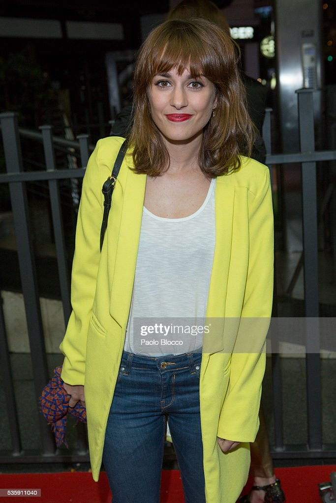Actress Silvia Alonso is seen arriving to 'Nuestros Amantes' premiere at Palafox Cinema on May 30, 2016 in Madrid, Spain.