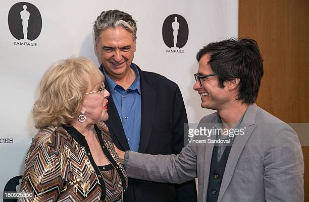 Actress Silvia Pinal director Gregory Nava and actor Gael Garcia Bernal attend Viva Figueroa The Academy honors iconic Mexican cinematographer...