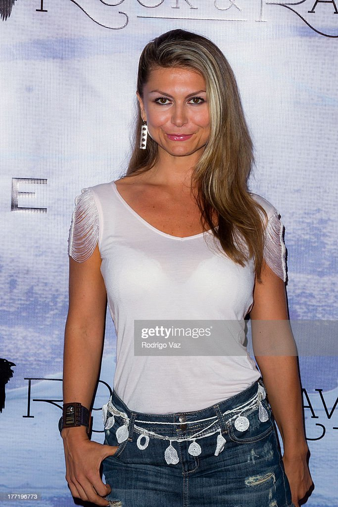 Actress Simona Brhlikova attends the artist's reception for Billy Zane's solo art exhibition 'Seize The Day Bed' on August 21, 2013 in Los Angeles, California.