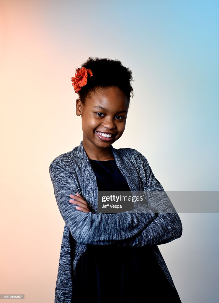 Actress Simone Baker from the film 'Gook' poses for a portrait in the WireImage Portrait Studio presented by DIRECTV during the 2017 Sundance Film Festival on January 21, 2017 in Park City, Utah.