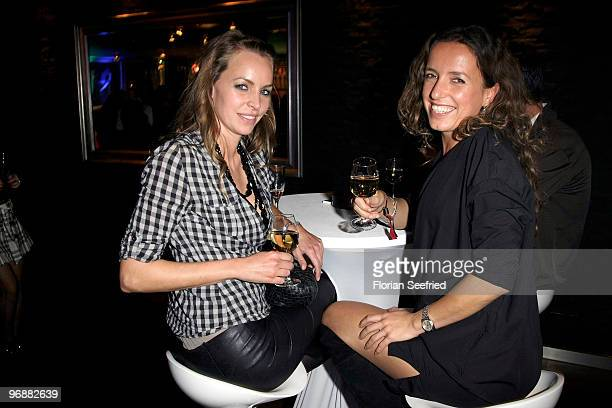 Actress Simone Hanselann and Ulrike Beck attend the 'Tele 5 Director's Cut`during the 60th Berlin Film Festival at Puro Lounge on February 19 2010 in...