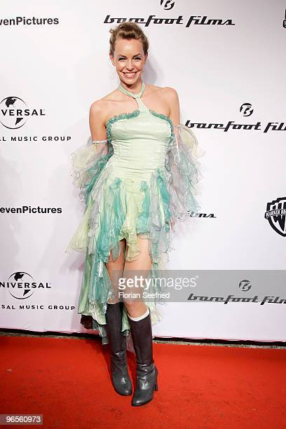 Actress Simone Hanselmann as fairy attends the 'Zweiohrkueken GoldKostuemparty' at China Loung on February 10 2010 in Berlin Germany
