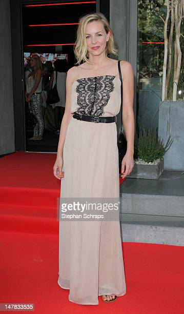Actress Simone Hanselmann attends the Guido Maria Kretschmer presentation party at the Berlin Moscow Bar Unter den Linden 52 on July 4 2012 in Berlin...