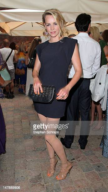Actress Simone Hanselmann attends the 'Mongrels in Common' and 'Liebig' fashion show at the former jewish girls school Auguststrasse 1113 on July 5...