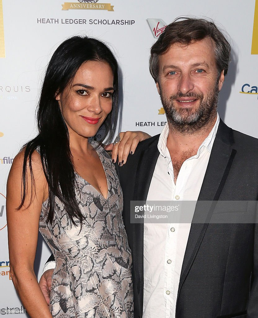 Actress Simone Kessell (L) and husband director Gregor Jordan attend Australians In Film Heath Ledger Scholarship Announcement Dinner at Sunset Marquis Hotel & Villas on June 1, 2015 in West Hollywood, California.