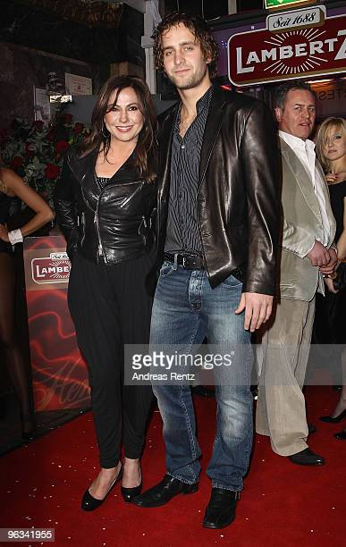Actress Simone Thomalla and her friend Silvio Heinevetter attend the Lambertz Monday Night Schoko Fashion party at the Alten Wartesaal on February 1...