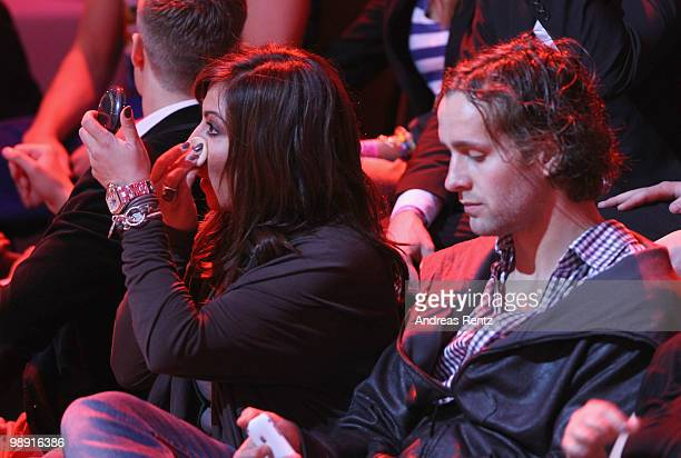 Actress Simone Thomalla and her partner Silvio Heinevetter attend the 'Let's Dance' TV show at Studios Adlershof on May 7 2010 in Berlin Germany
