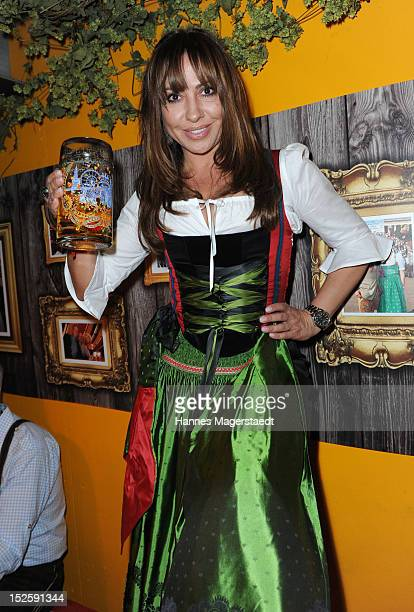 Actress Simone Thomalla attends the Oktoberfest beer festival at Hippodrom on September 22 2012 in Munich Germany