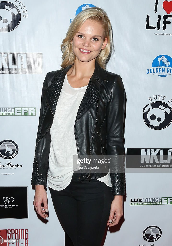 Actress Sina Henrie attends the No Kill LA charity event at Fred Segal on April 2, 2013 in West Hollywood, California.