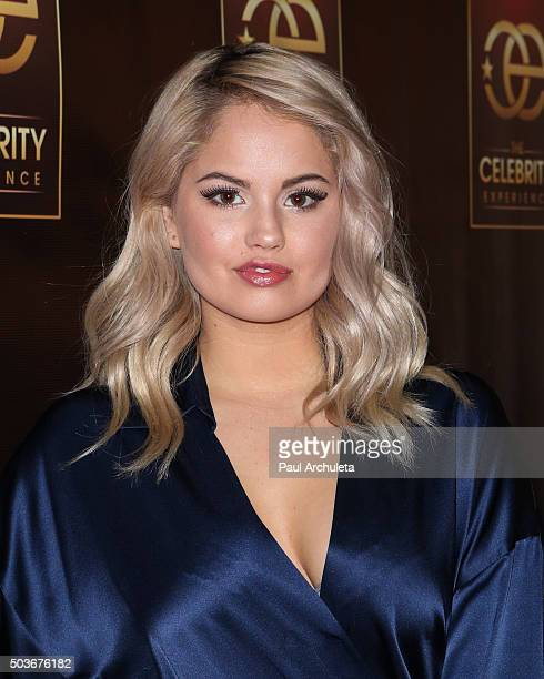 Actress / Singe Debby Ryan attends the Celebrity Experience at The Hilton Universal Hotel on January 6 2016 in Los Angeles California