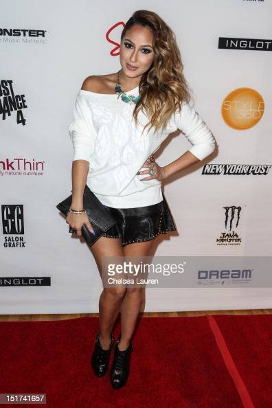 Actress / singer Adrienne Bailon attends Abbey Dawn By Avril Lavigne Spring 2013 at the Metropolitan Pavilion on September 10 2012 in New York City