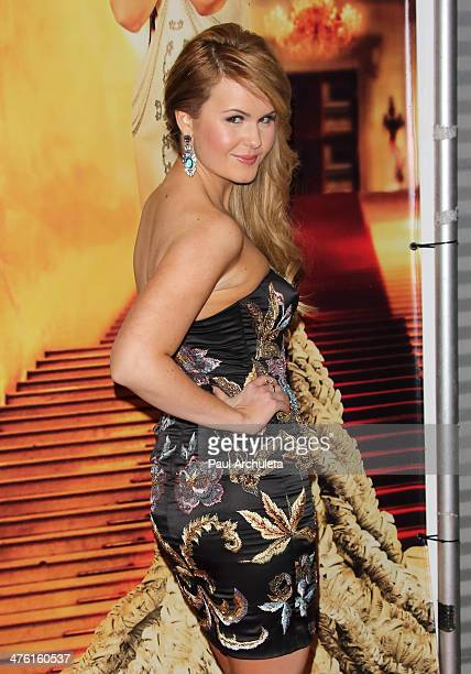 Actress / Singer Ashlee Keating attends the SOCIETY UNICI preOscar party at Unici Casa Gallery on March 1 2014 in Culver City California