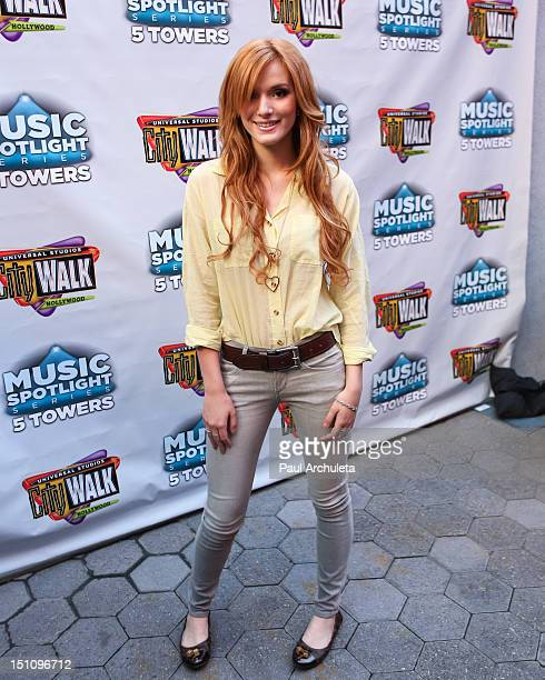 Actress / Singer Bella Thorne attends Universal CityWalk's free music spotlight series celebrating the end of summer at 5 Towers Outdoor Concert...