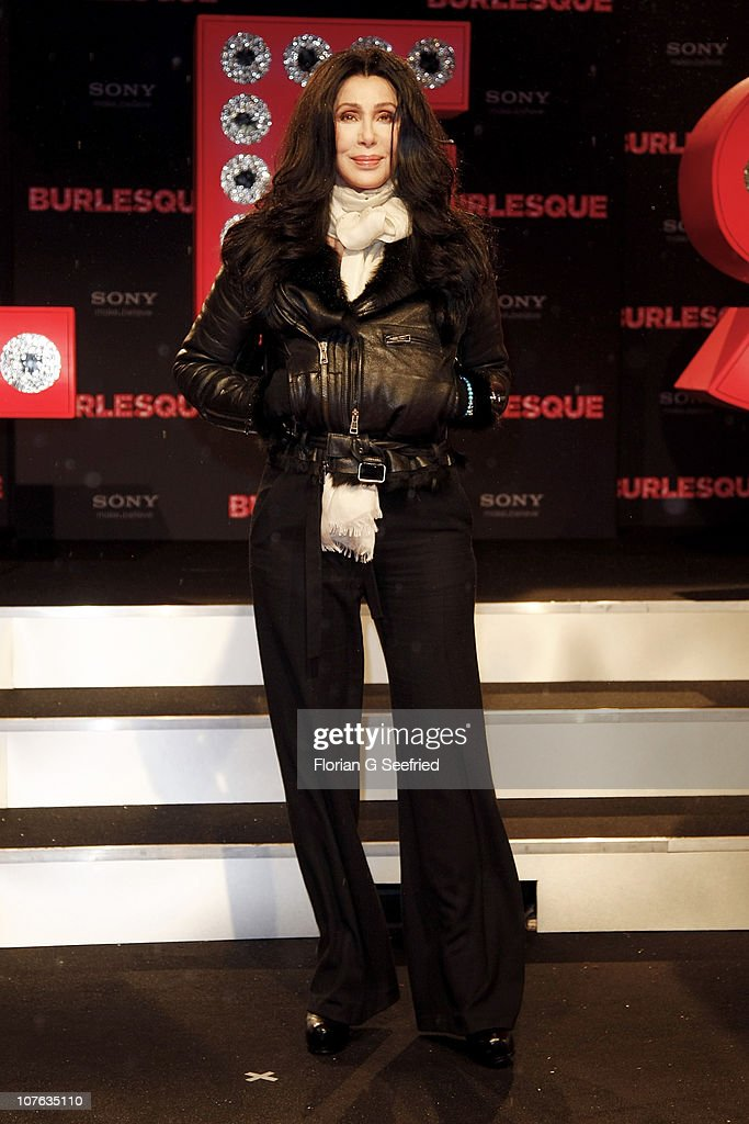 Actress, singer <a gi-track='captionPersonalityLinkClicked' href=/galleries/search?phrase=Cher+-+Performer&family=editorial&specificpeople=203036 ng-click='$event.stopPropagation()'>Cher</a> attends the Germany Premiere of 'Burlesque' at CineStar at Potsdamer Platz on December 16, 2010 in Berlin, Germany.