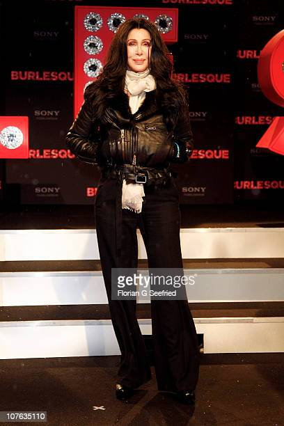 Actress singer Cher attends the Germany Premiere of 'Burlesque' at CineStar at Potsdamer Platz on December 16 2010 in Berlin Germany