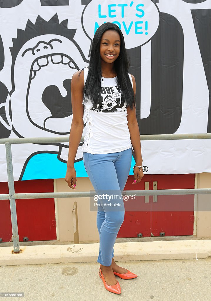 Actress / Singer Coco Jones attends The WAT-AAH! Foundation's 3rd annual Move Your Body 2013 event on May 1, 2013 in Los Angeles, California.