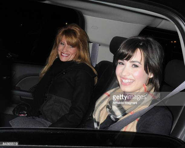 Actress singer Demi Lovato and her mother leave her hotel on January 30 2009 in New York City