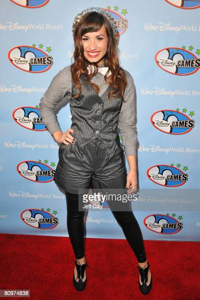 Actress / Singer Demi Lovato appears on the red carpet for the 2008 Disney Channel Games at Epcot Center in Walt Disney World on May 2 2008 in...