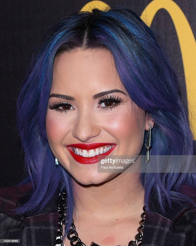 Actress / Singer <a gi-track='captionPersonalityLinkClicked' href=/galleries/search?phrase=Demi+Lovato&family=editorial&specificpeople=4897002 ng-click='$event.stopPropagation()'>Demi Lovato</a> attends NYLON Magazine's December issue celebration at Smashbox West Hollywood on December 5, 2013 in West Hollywood, California.