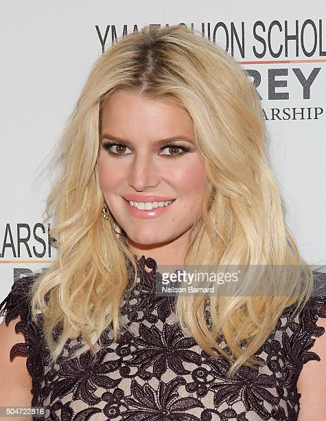 Actress Singer Fashion Entrepreneur Jessica Simpson attends YMA Fashion Scholarship Fund Geoffrey Beene National Scholarship Awards Gala at Marriott...