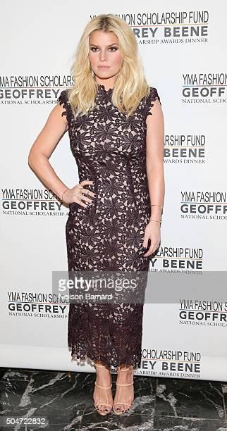 Actress Singer Fashion Entrepreneur Jessica Simpson attends YMA Fashion Scholarship Fund Geoffrey Beene National Scholarship Awards Gala at Marriott...