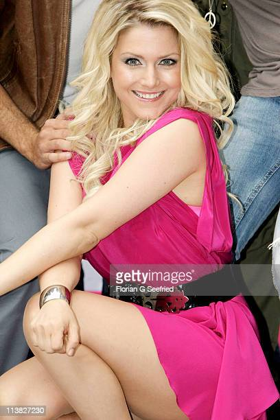 Actress singer Jeanette Biedermann attends the Fan Event of 'Anna Und Die Liebe' and 'Hand aufs Herz' at Sony Centre on May 7 2011 in Berlin Germany