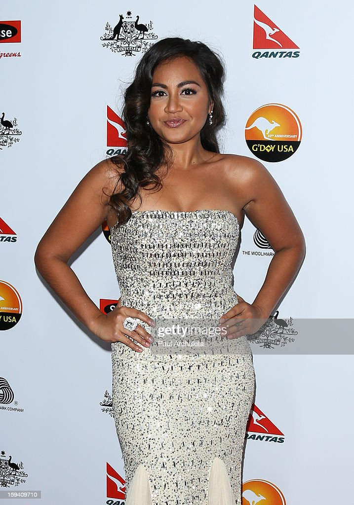 Actress / Singer Jessica Mauboy attends the 2013 G'Day USA Los Angeles Black Tie Gala at JW Marriott Los Angeles at L.A. LIVE on January 12, 2013 in Los Angeles, California.