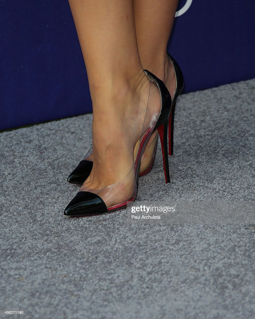Actress / Singer Katharine McPhee (Shoe Detail) attends the 13th Annual Chrysalis Butterfly Ball at a private Mandeville Canyon Estate on June 7, 2014 in Los Angeles, California.