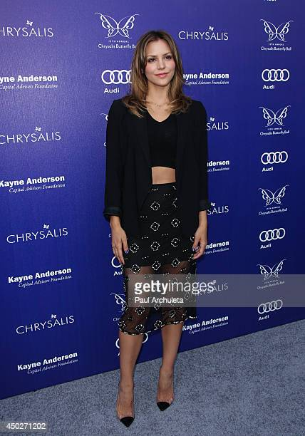 Actress / Singer Katharine McPhee attends the 13th Annual Chrysalis Butterfly Ball at a private Mandeville Canyon Estate on June 7 2014 in Los...