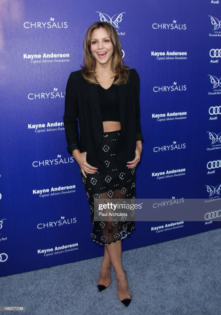 Actress / Singer <a gi-track='captionPersonalityLinkClicked' href=/galleries/search?phrase=Katharine+McPhee&family=editorial&specificpeople=581492 ng-click='$event.stopPropagation()'>Katharine McPhee</a> attends the 13th Annual Chrysalis Butterfly Ball at a private Mandeville Canyon Estate on June 7, 2014 in Los Angeles, California.