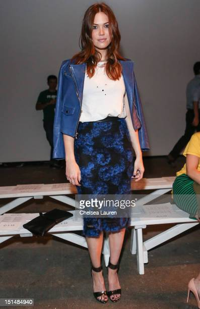 Actress / singer Mandy Moore attends Billy Reid's spring 2013 fashion show during MercedesBenz Fashion Week at Eyebeam on September 7 2012 in New...