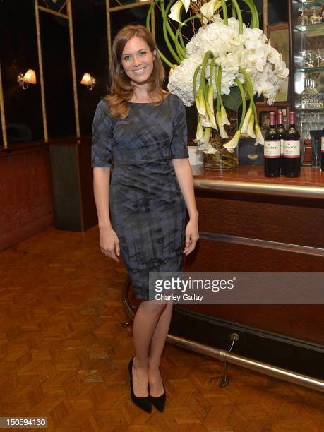 Actress/ Singer Mandy Moore attends Clos du Bois Rouge Los Angeles launch at Chateau Marmont's Bar Marmont on August 22 2012 in Hollywood California