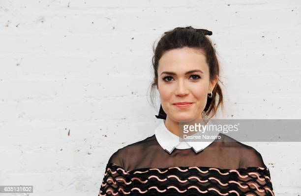 Actress/ singer Mandy Moore attends the Lela Rose show during February 2017 New York Fashion Week at Loring Place on February 13 2017 in New York City