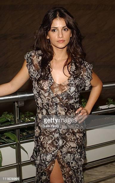 Actress Singer Monica Cruz during TV Golden TP Awards at Antena 3 TV Studios in Madrid Spain
