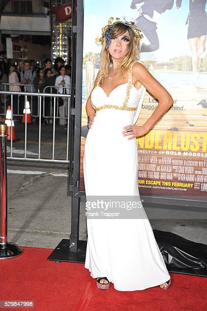 Actress singer Nadeea arrives at the world premiere of Wanderlust held at Mann Village Theater in Westwood