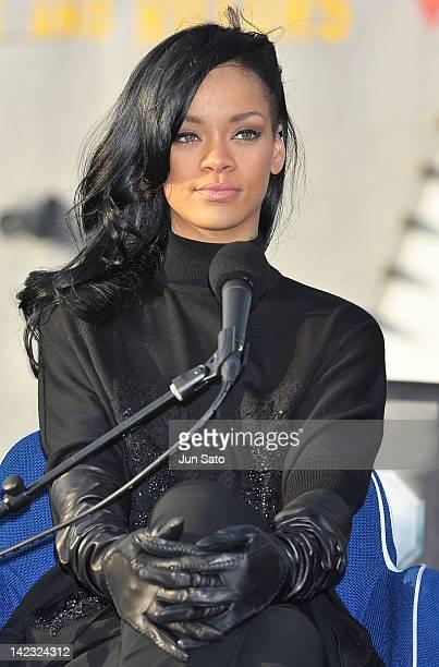 Actress/ singer Rihanna attends the 'Battleship' Press Conference on the USS George Washington at US Fleet Activities Yokosuka on April 2 2012 in...