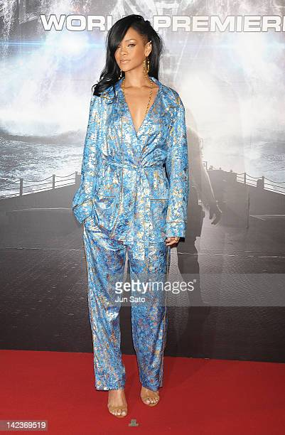 Actress/ singer Rihanna attends the 'Battleship' World premier at Yoyogi National Gymnasium on April 3 2012 in Tokyo Japan The film will open on...