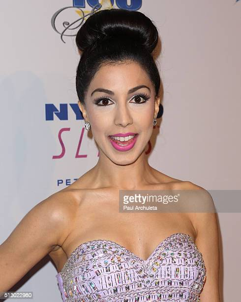 Actress / Singer Roxy Darr attends the 26th annual Night Of 100 Stars Oscar viewing party at The Beverly Hilton Hotel on February 28 2016 in Beverly...
