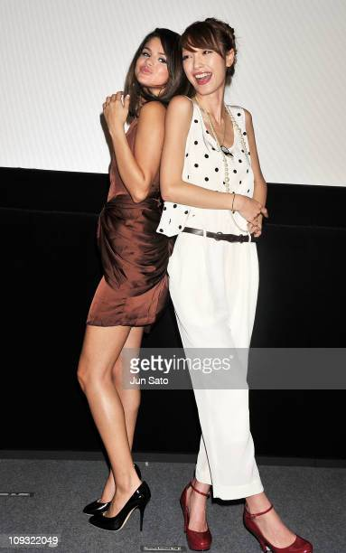 Actress/ singer Selena Gomez and actress/ model Yukina Kinoshita attend the promotion event for Disney Channel Tv series 'Wizards of Waverly Place'...