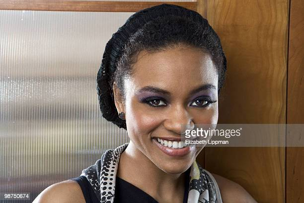 Actress/ singer Syesha Mercado poses at a portrait session for the Boston Globe in New York NY on January 10 2010