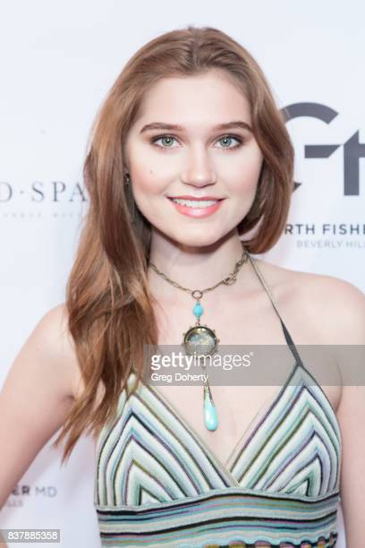 Actress singersongwriter and model Serena Laurel attends the Official Launch Party Of Dr Garth Fisher's BioMed Spa at Garth Fisher MD on August 22...