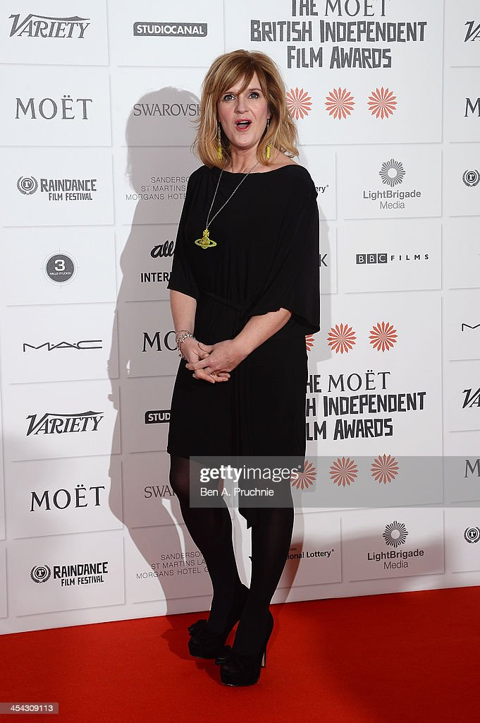 Actress Siobhan Finneran arrives on the red carpet for the Moet British Independent Film Awards at Old Billingsgate Market on December 8, 2013 in London, England.