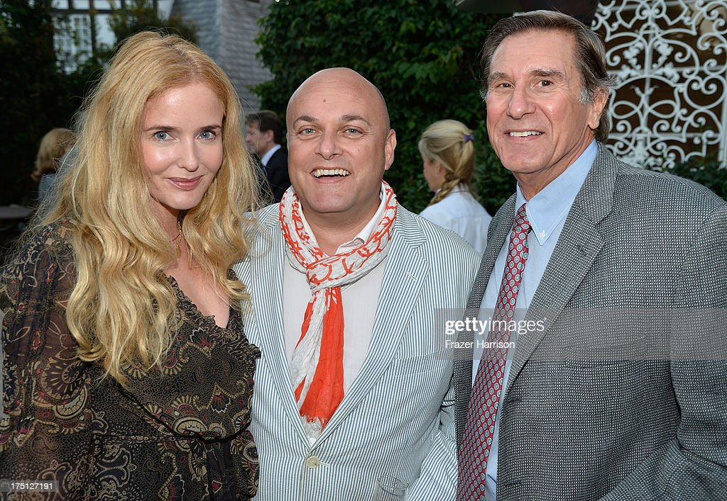 Actress Siobhan Flynn, BAFTA/LA Deputy chair of the Board Nigel Daly, BAFTA LA executive director Donald Haber attend a farewell Cocktail Reception For The British Consul-General Dame Barbara Hay on July 31, 2013 in Los Angeles, California.