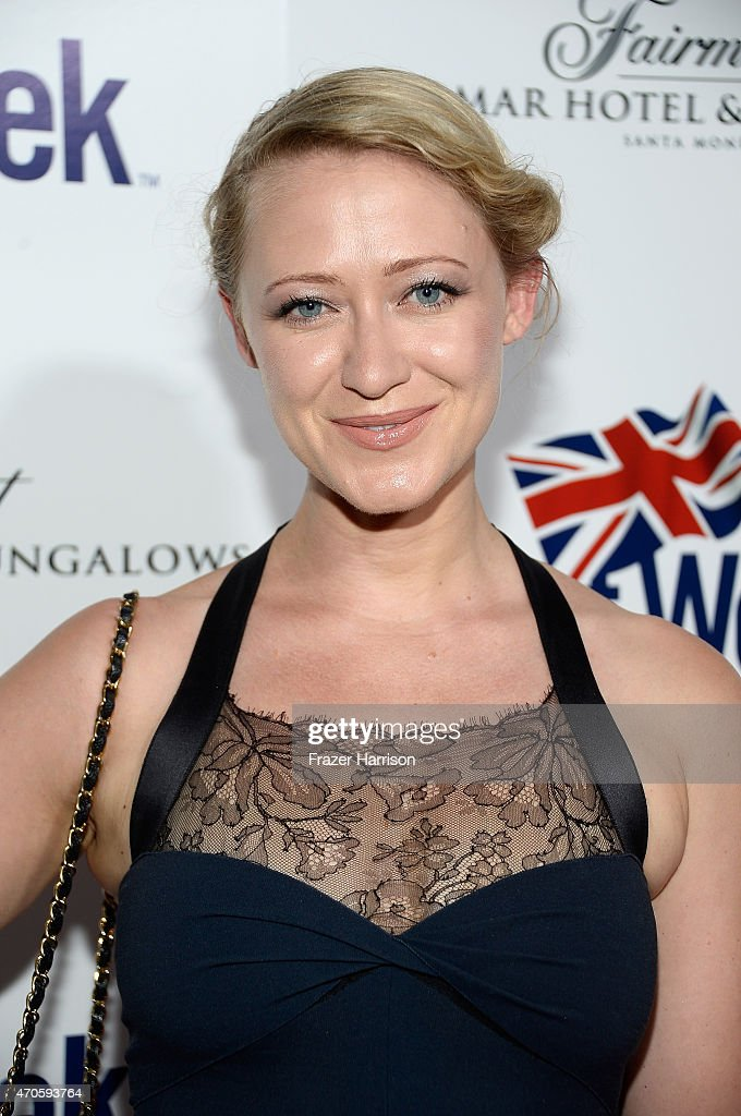 Actress Siobhan Hewlett arrives at the 9th Annual BritWeek launch party at the British Consul General's Residence on April 21 2015 in Los Angeles...