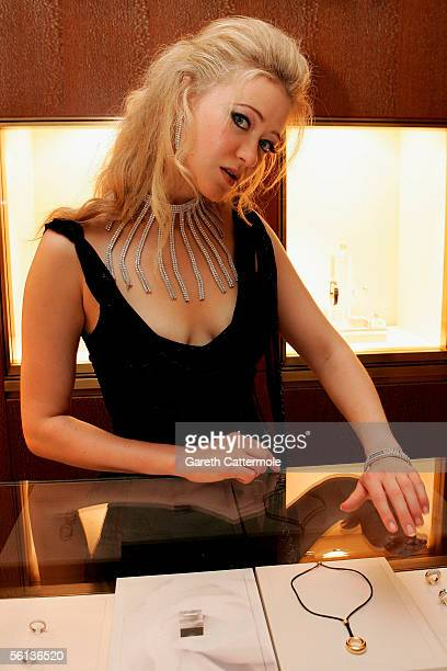Actress Siobhan Hewlett attends the relaunch party for the new Fine Jewellery Room at Harrods Knightsbridge on November 10 2005 in London England